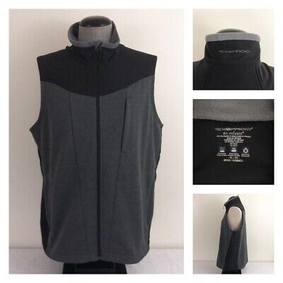 Ex Officio Wool Vest - Exofficio Dri Release Mens XL Full Zip Black Gray Wool Blend Stretch Vest Jacket