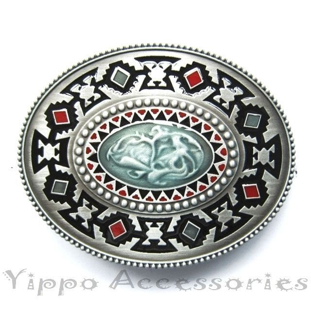 Aztec Western Native Indian Metal Fashion Belt Buckle