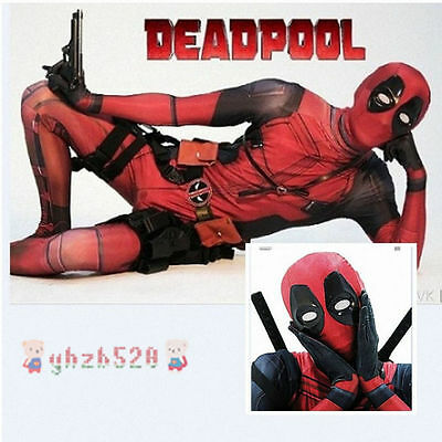 Avengers Deadpool Lycra Spandex Full Body Costume Halloween Cosplay 2017 NEW HOT