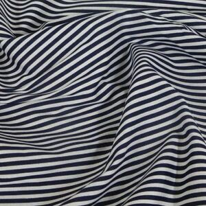 3mm Candy Stripes On White Polycotton Fabric