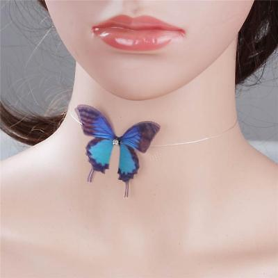 New Butterfly Pendant Choker Necklace Austrian Detailed Crystal Women Illusion Austrian Crystal Butterfly Necklace