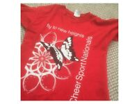 Cheerleading competition tees