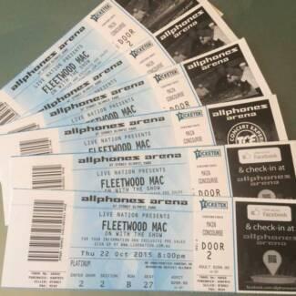 Fleetwood Mac Thur 22 Oct - 6 x Tkts PLATINUM SWAP for Sun 25 Oct Queanbeyan Queanbeyan Area Preview