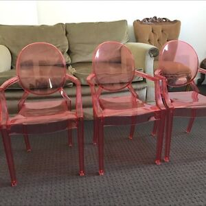 Kids pink Ghost chairs Rozelle Leichhardt Area Preview