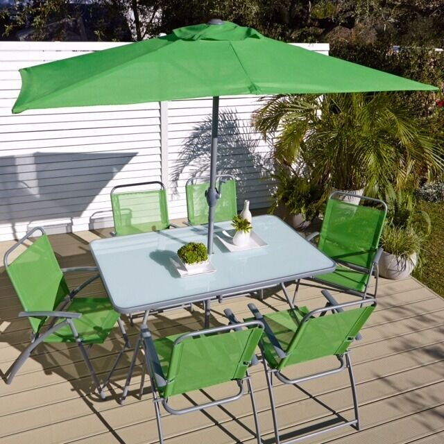 Garden Furniture Glasgow garden furniture - glass rectangular table with 6 chairs | in