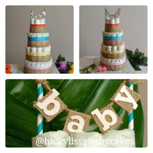 Custom and PreDesigned Diaper Cakes