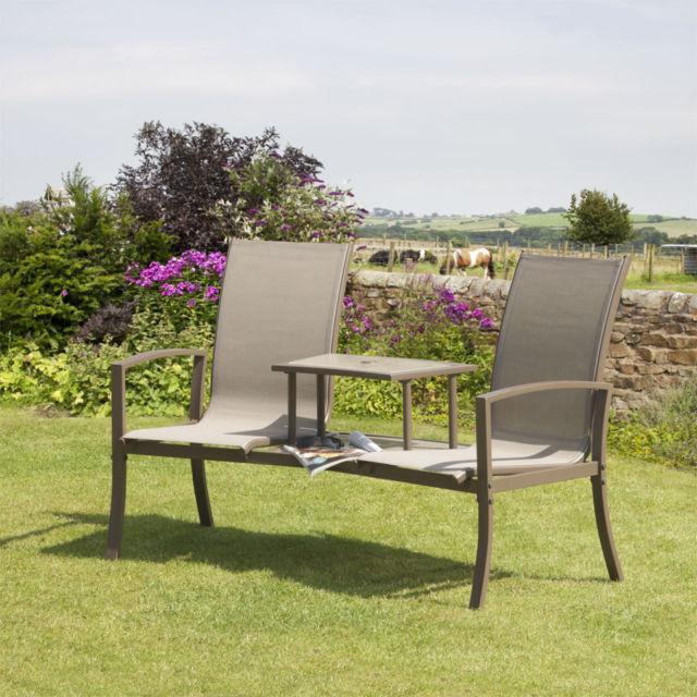 Picture 4 of 4. Suntime Havana Bronze Outdoor Duo Seat   Garden Table and Chair   eBay