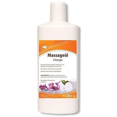 KK Massageöl Orange 1000ml 1 Liter Öl Massage Entspannung Physiotherapie Masseur