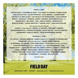 Field day tickets x 2 Saturday 2 June 2018 £40 each