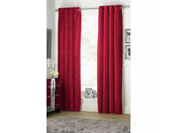 CHENILLE (velvet like) CRANBERRY BLACKOUT CURTAINS 167x182(66x72)BRAND NEW IN PACKET will post