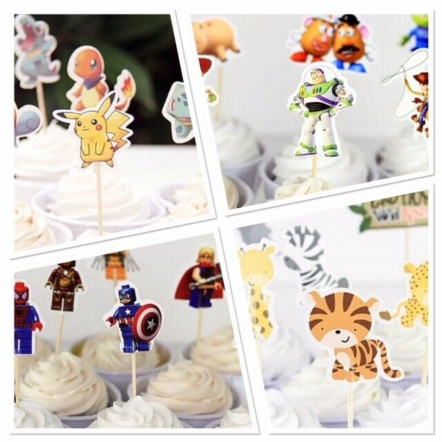cupcake toppers disney marvel pokemon toy story