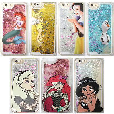 Bling Cartoon Disney Glitter Star Quicksand Case Cover for iPhone Samsung