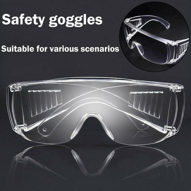 Clear Safety Anti Fog Goggles Glasses for Work Lab Outdoor Eye Protection US Business & Industrial