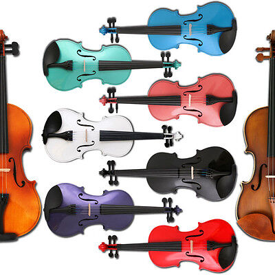 ANY Color 4/4 3/4 1/2 1/4 1/8 ACOUSTIC Violin+CASE+BOW on Rummage
