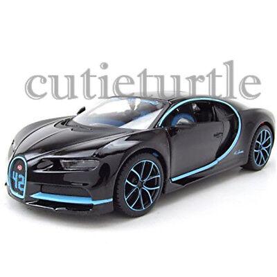 Maisto Bugatti Chiron 42 Edition 1 24 Diecast 34514 Bk42 Black With Blue Accents