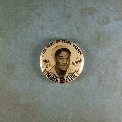 "Vintage Style Photo Pinback Button  1""  Dorie Miller Hero of Pearl Harbor WW2"