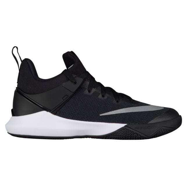 8d6a764fa74 Mens Nike Zoom Shift TB Basketball Shoes Black White Silver Grey Gray  897811 001