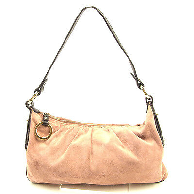 Fendi Shoulder bag Pink Brown Woman Authentic Used T254