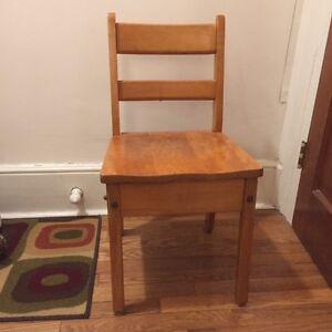 Child's Vintage Oak School Chair