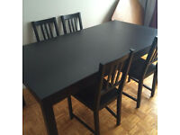 Black Extendable BJURSTA IKEA Dining Table - Must Sell ASAP - Make an Offer