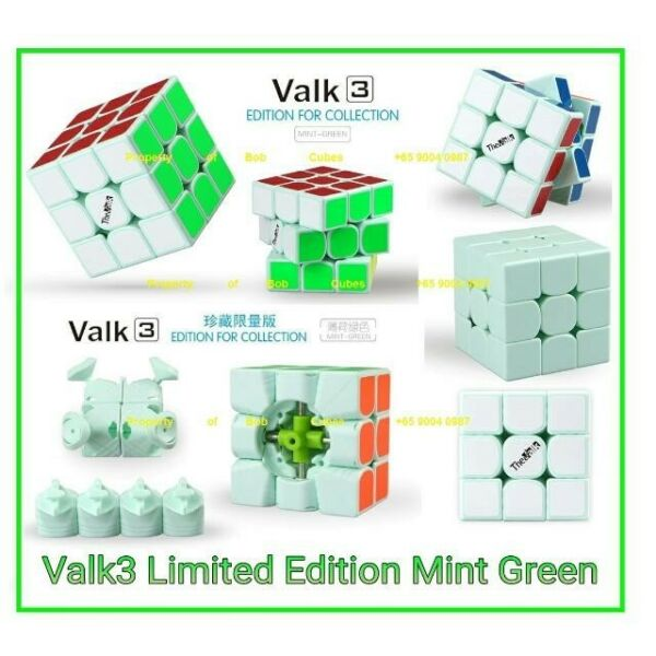 ~ Limited Edition Mint Green Valk3 3x3 for sale ! Brand New SpeedCube !