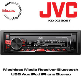 JVC KD-X320BT - Mechless Media Receiver Bluetooth USB Aux Stereo iPod/iPhone