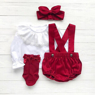 Outfits For Girl (Infant Christmas Outfit For Girl Baby First Xmas Party Romper Shirt Clothes)