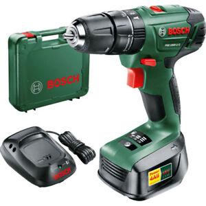 322c57e5c70 Bosch 18v Lithium-Ion Cordless Combi Drill, Battery Charger &Case PSB 1800  LI-