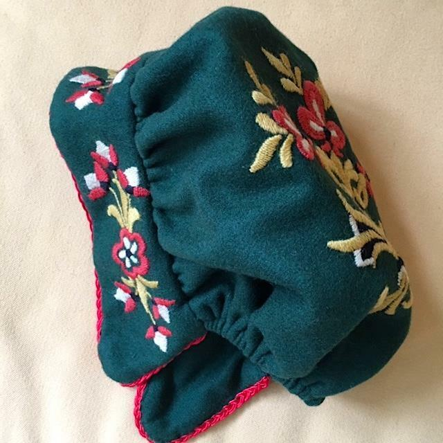AUTHENTIC New SMALL NORWEGIAN NEDRE BUSKERUD BUNAD HAT HAND EMBROIDERED NORWAY