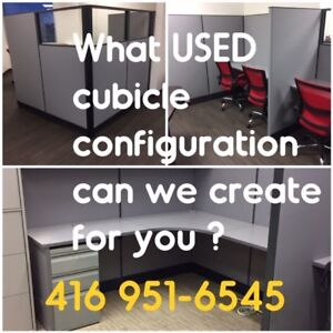 USED CUBICLES, EXCELLENT COND., DESIGN, SUPPLY, DELIVER, INSTALL