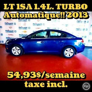 2013 CHEVROLET CRUZE LT 1.4 TURBO AUTOMATIQUE