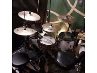 Drum lessons, rehearsal, and recording with Bill Maries