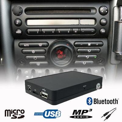 Car Bluetooth Handsfree A2DP USB CD Changer Adapter Mini Cooper R50 Boost Radio