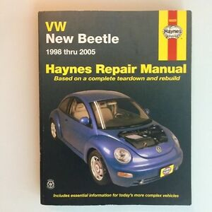 Hayne's VW New Beetle Repair Manual 1998 - 2005