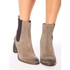 JEFFREY CAMPBELL Beige & Brown Heel Ankle Boots 7.5 / 38