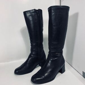 COLLÈGE - bottes en cuir - leather boots - femme taille 8 US