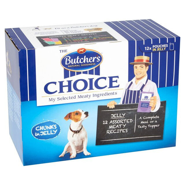 Dry Food Butchers Choice Festive Pouches In Gravy Dog Food With