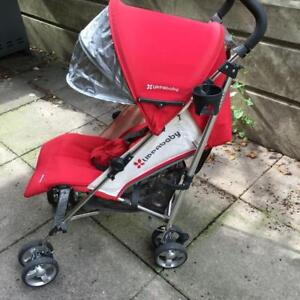 UPPAbaby G Luxe Red/White Umbrellas Stroller