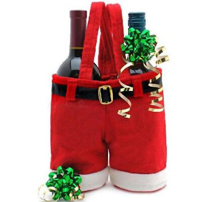 Amazing Merry Christmas Gift Treat Candy Wine Bottle Bag Santa Claus Pants 2017  - Awesome Halloween Treats