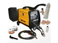 Welder DC gas or gasless complete kit