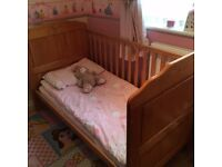 Obaby Beverly Cot /Cot Bed/ Junior Bed, Country Pine - Good Condition, Take a Look!!