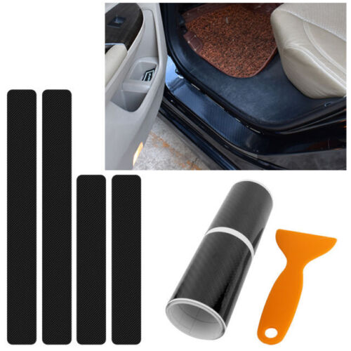 Car Parts - Car with carbon fiber grain sticker to protect the door threshold car parts