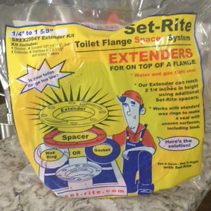 "Set-Rite Products Toilet Flange Extender Kit 1/4""-1 5/8"""