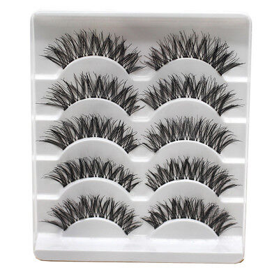 5Pair Crossed False Eyelashes Strips Thick Natural Fake Eyelash Cilios Eye Lashe