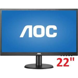 "OB AOC FULL HD LED MONITOR 22"" E2280SWDN 200413645 PC COMPUTER OPEN BOX"