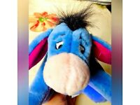 Brand New Eeyore from Winnie the Pooh Family By Disney Store plush soft Beanie toy Cartoon Character