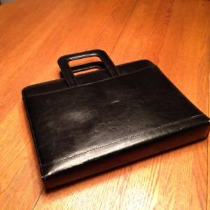 Classy Black Portfolio Case