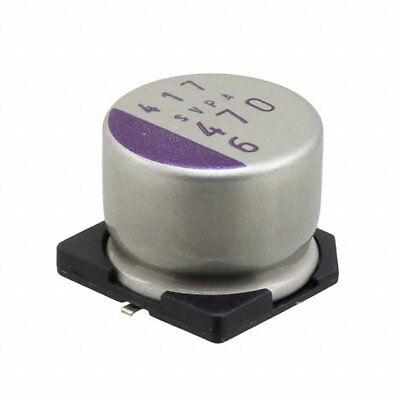 Sanyo 6svpa470m Poly Aluminum Capacitor 470uf 20 6.3v Smd New Lot Quantity-25