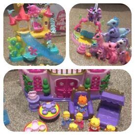 Shopkins Princess Castle Ponies Toys