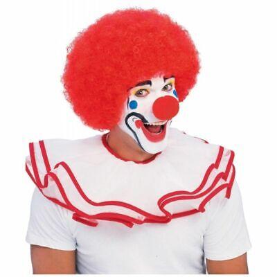 Herren Erwachsener Lustig Große Rote Afro von Clown Kostüm Perücke
